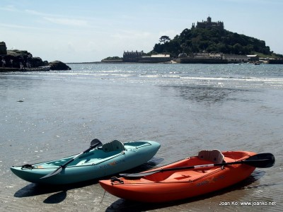 Canoes at Marazion beach