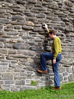 Joel at Conwy Castle