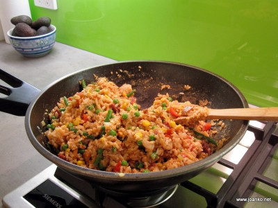 Fried rice in the style of Joan's mum