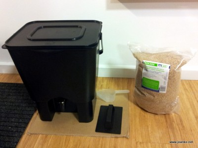 Home composting using the Bokashi system