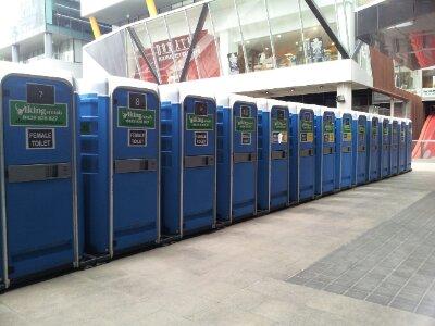 Temporary facilities at QV