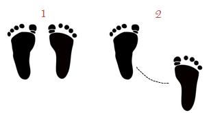 The basic waltz with a diagonal shortcut