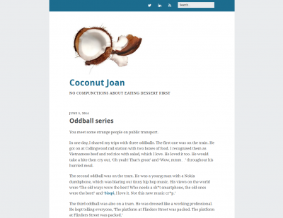 Third WordPress design, June 2014