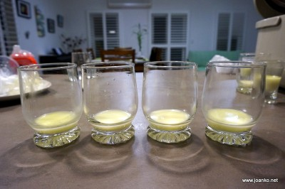 Four breastmilk samples stored in different ways over three days